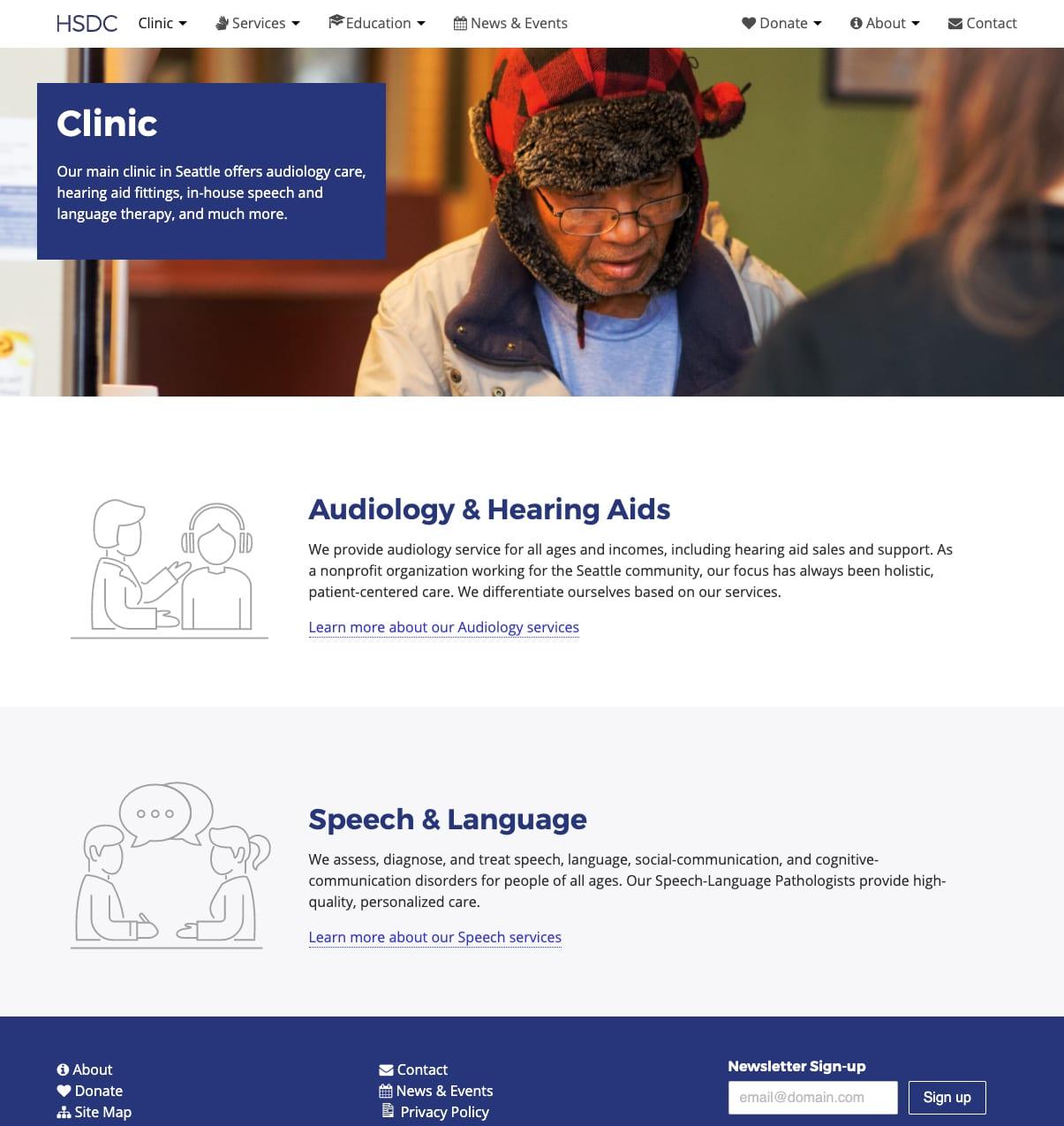 The HSDC website