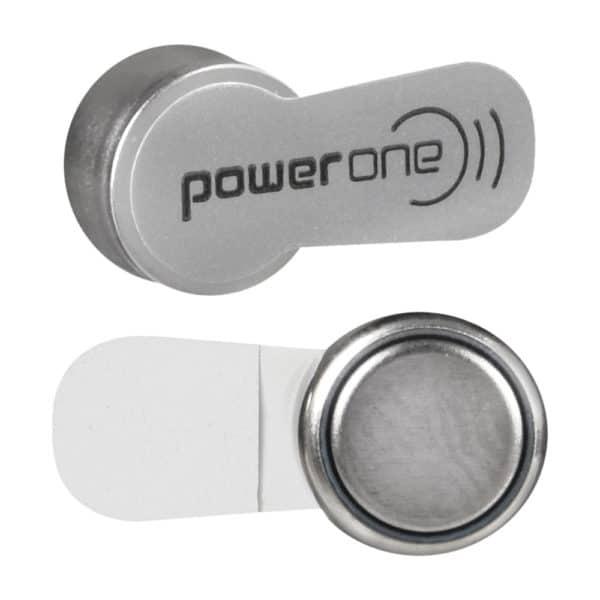 power one hearing aid batteries size 13 (orange) single battery closeup