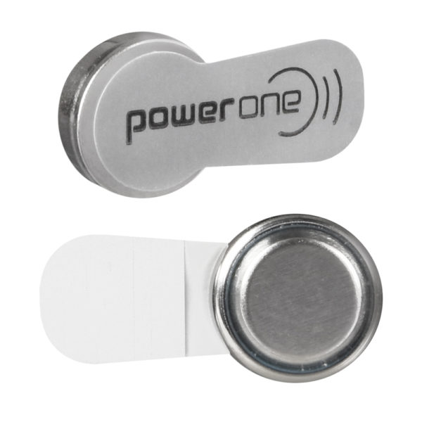 power one hearing aid batteries size 312 (brown) single battery closeup