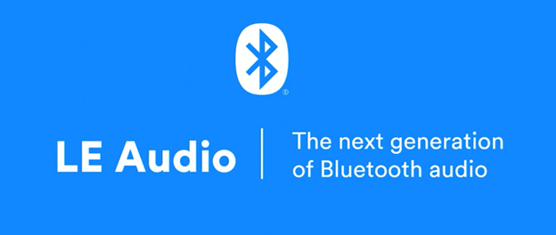 """LE Audio image courtesy of Bluetooth that reads """"The next generation of Bluetooth audio"""""""